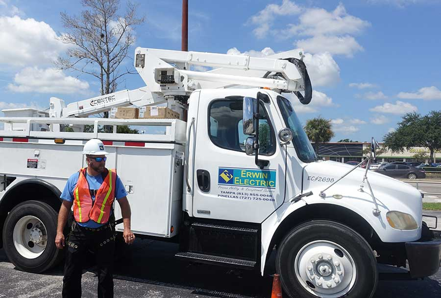 Bucket Truck Electrical Services Tampa, Pinellas