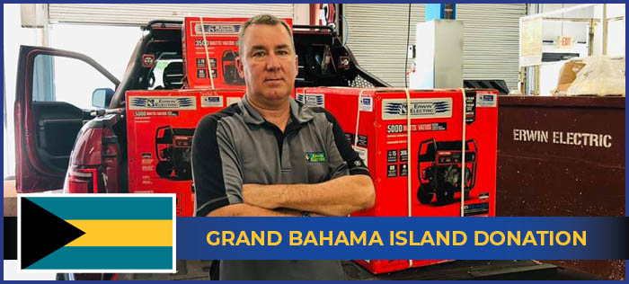 Grand Bahama Island Donation Erwin Electric
