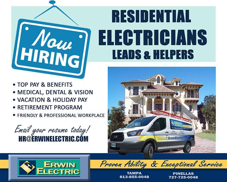 erwin electric now hiring