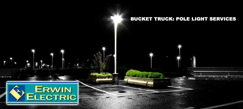 Parking Lot Lighting Bucket Truck